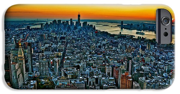 Empire State iPhone Cases - New York City Sunset  iPhone Case by Art K