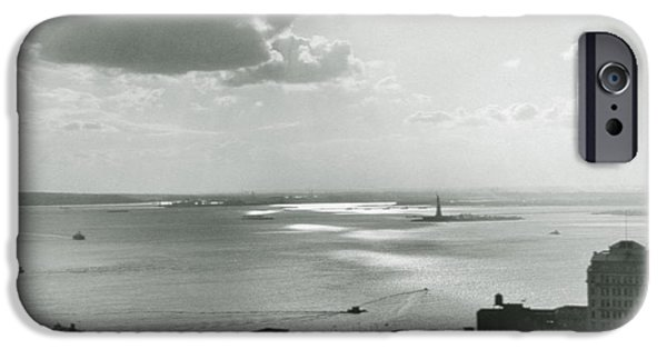 Hudson River iPhone Cases - New York City Untitled One iPhone Case by Nat Herz