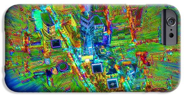 Freedom iPhone Cases - New York Freedom Tower Lower Manhattan 2 iPhone Case by Tony Rubino