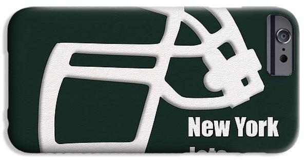 New York Jets iPhone Cases - New York Jets Retro iPhone Case by Joe Hamilton