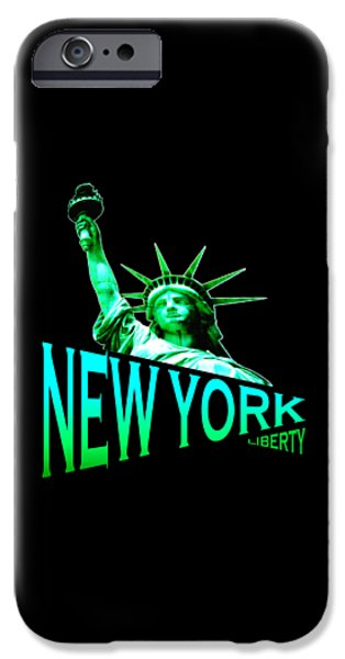 Freedom Tapestries - Textiles iPhone Cases - New York Liberty iPhone Case by Peter Fine Art Gallery  - Paintings Photos Digital Art