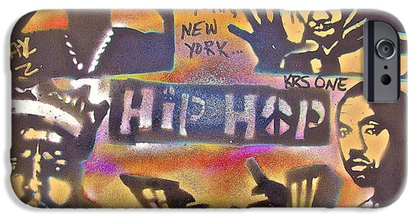 First Amendment Paintings iPhone Cases - New York New York iPhone Case by Tony B Conscious