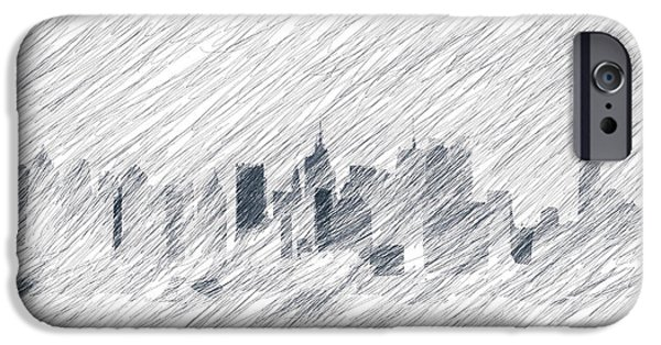 Empire State iPhone Cases - New York Skyline iPhone Case by The Digital