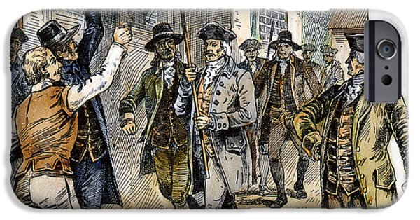Protesters iPhone Cases - New York: Stamp Act , 1765 iPhone Case by Granger