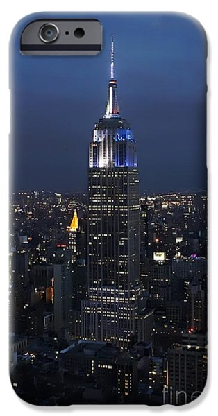 Empire State iPhone Cases - New York State of Mind iPhone Case by Lilliana Mendez