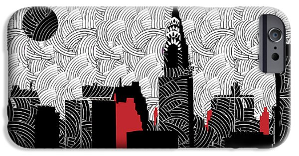 East Village Mixed Media iPhone Cases - New York City Skyline Swing  iPhone Case by Cecely Bloom