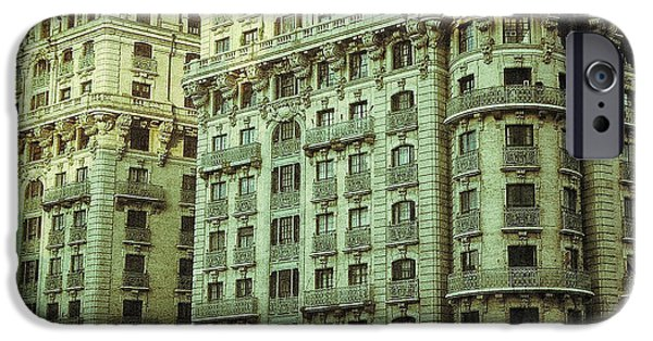 Cities Pyrography iPhone Cases - New York Upper West Side Apartment Building iPhone Case by Amy Cicconi