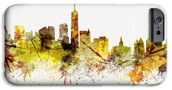 Autumn Jewelry iPhone Cases - New York_Autumn2 iPhone Case by JW Digital Art