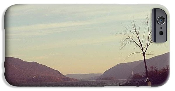 Hudson River iPhone Cases - Newburgh Sunset iPhone Case by Victory  Designs