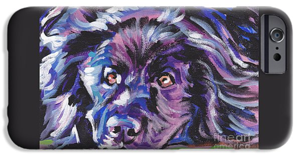 Newfoundland iPhone Cases - Newfie  iPhone Case by Lea