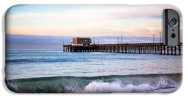 Newport Photographs iPhone Cases - Newport Beach CA Pier at Sunrise iPhone Case by Paul Velgos
