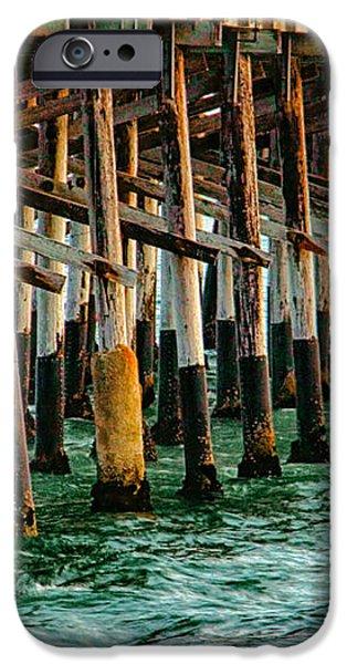 Newport Beach Pier Close Up iPhone Case by Mariola Bitner