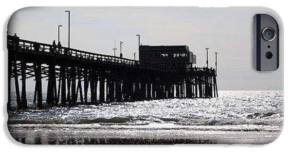 Newport Photographs iPhone Cases - Newport Pier iPhone Case by Paul Velgos