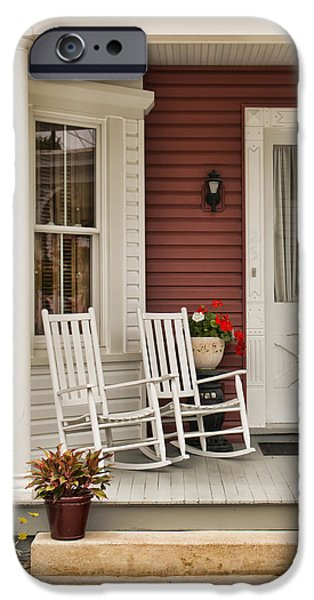 Furniture iPhone Cases - Newville Country Porch iPhone Case by Kristia Adams
