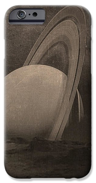 Surrealism Digital iPhone Cases - Next Universe Over iPhone Case by Susan Maxwell Schmidt