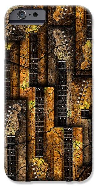Fender Strat iPhone Cases - Nexs iPhone Case by Gary Bodnar