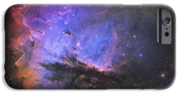 Stellar iPhone Cases - Ngc 281, The Pacman Nebula iPhone Case by Don Goldman