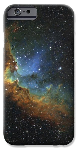 Ngc 7380 In Hubble-palette Colors iPhone Case by Rolf Geissinger