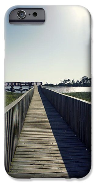 Cedar Key iPhone Cases - Nice Day For Fishing iPhone Case by Laurie Perry