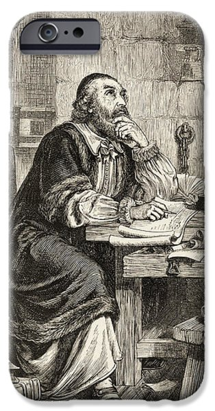 Religious Drawings iPhone Cases - Nicholas Ridley Writing Letters In iPhone Case by Ken Welsh