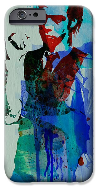 Rock Stars Paintings iPhone Cases - Nick Cave iPhone Case by Naxart Studio