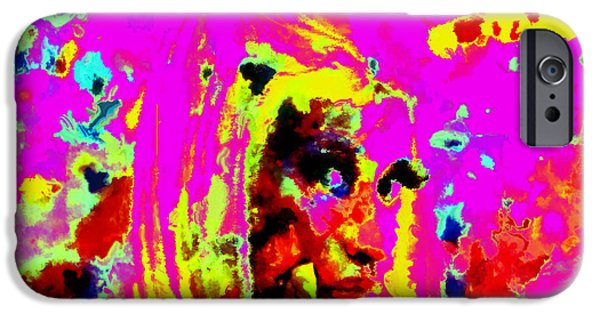 Lil Wayne Paintings iPhone Cases - Nicki Minaj Color Splash iPhone Case by Brian Reaves