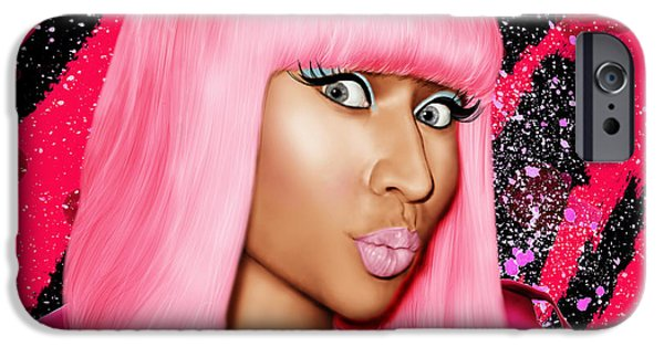 Nicki Minaj iPhone Cases - Nicki Minaj iPhone Case by Davonte Bailey