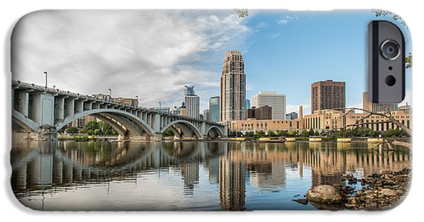 Citylife iPhone Cases - Nicollet Island Minneapolis Two iPhone Case by Josh Whalen