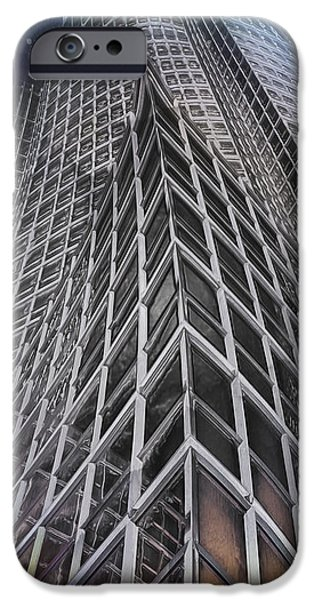 Contemporary Abstract iPhone Cases - Night Breaks in the City iPhone Case by Hal Halli