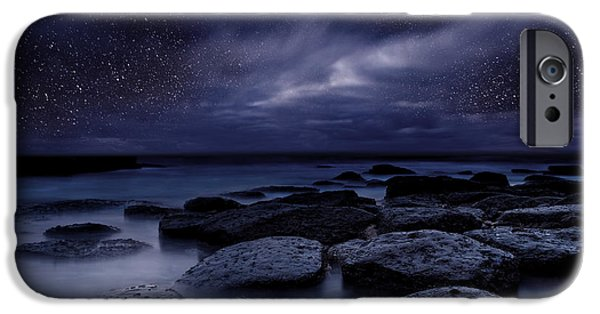 Beach Landscape iPhone Cases - Night enigma iPhone Case by Jorge Maia