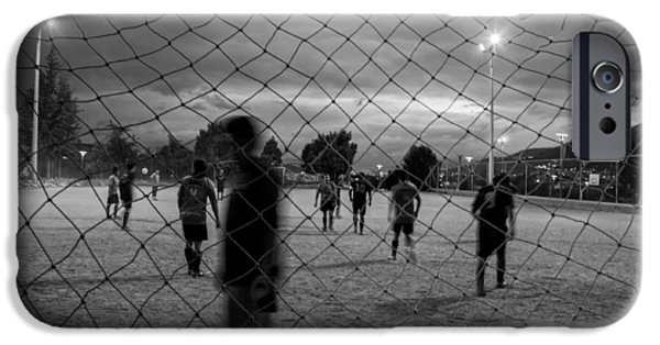 Field. Cloud iPhone Cases - Night Game iPhone Case by Austin G Mackell