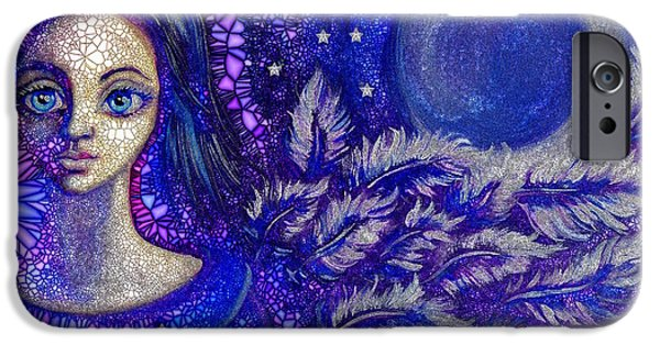 Night Angel iPhone Cases - Night Guardian iPhone Case by Agata Lindquist
