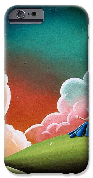 Youth Paintings iPhone Cases - Night Lights iPhone Case by Cindy Thornton