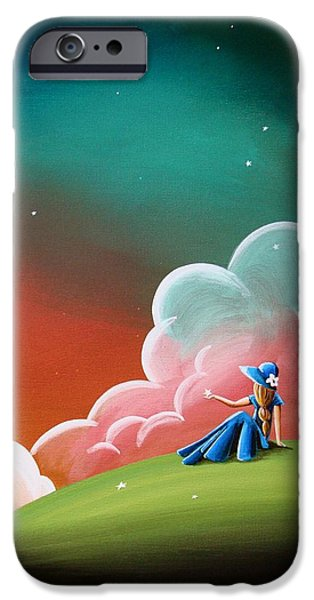 Concept Paintings iPhone Cases - Night Lights iPhone Case by Cindy Thornton