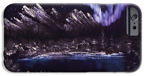 Snowy Night iPhone Cases - Night Lights iPhone Case by Gavin Kutil