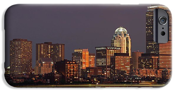 Charles River iPhone Cases - Night of Light iPhone Case by Juergen Roth