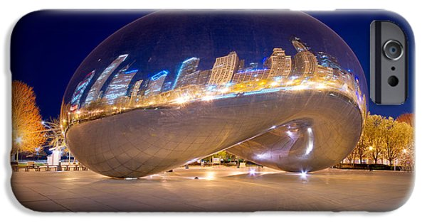 Stainless Steel iPhone Cases - Night on Cloudgate iPhone Case by Kevin Eatinger