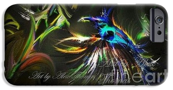 Night Lamp Mixed Media iPhone Cases - Night Paradise iPhone Case by Alex Thomas