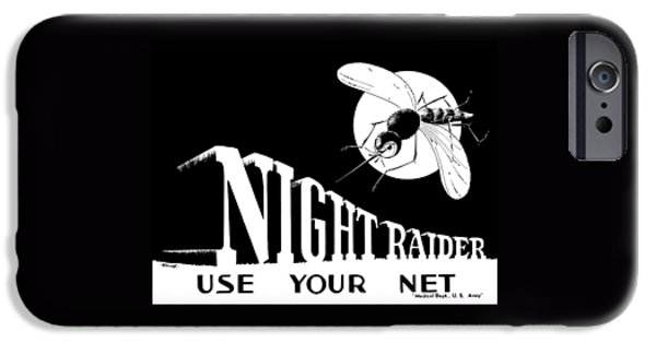 World War I iPhone Cases - Night Raider WW2 Malaria Poster iPhone Case by War Is Hell Store