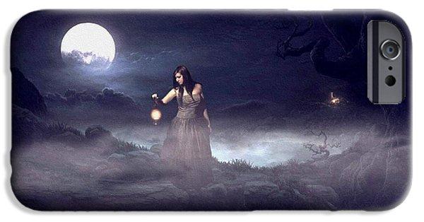 Business Digital Art iPhone Cases - Night Search 2 H b iPhone Case by Gert J Rheeders