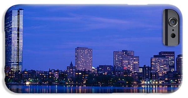 Boston Ma iPhone Cases - Night, Skyline, Back Bay, Boston iPhone Case by Panoramic Images