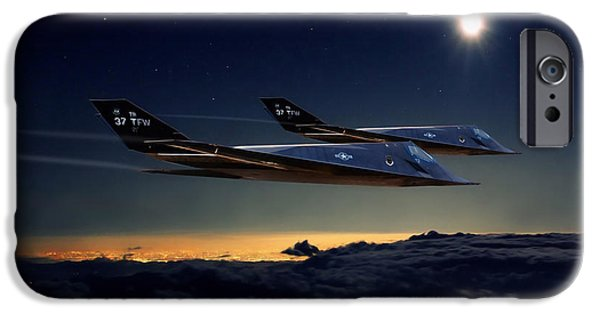 Jet Star iPhone Cases - Night Stalkers iPhone Case by Peter Chilelli