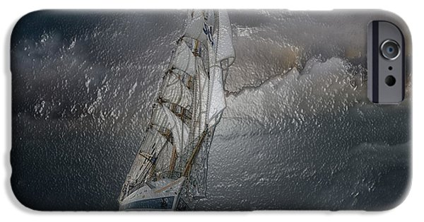 Abstract Seascape iPhone Cases - Night Storm iPhone Case by Scott Mendell