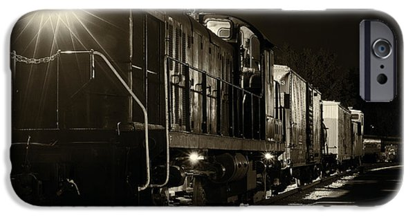 Night Lamp iPhone Cases - Night train iPhone Case by Kenneth Sponsler