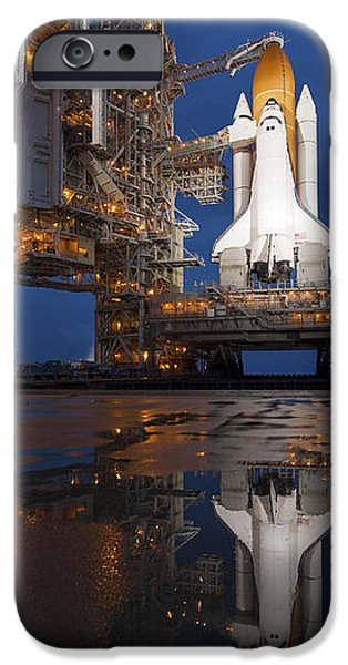 Night View Of Space Shuttle Atlantis iPhone Case by Stocktrek Images