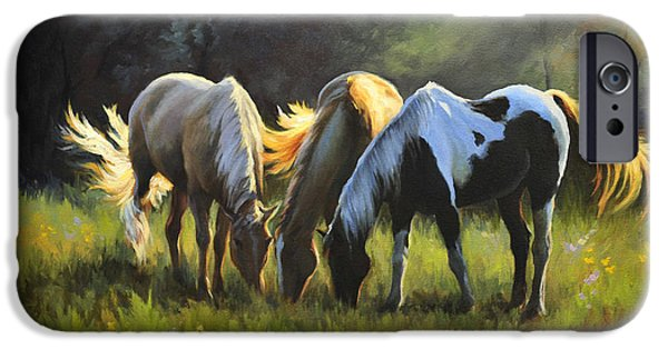 Horse iPhone Cases - Nightfall Emerts Cove iPhone Case by Katherine Tucker