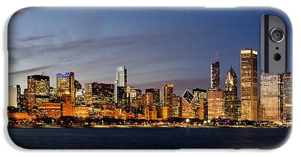 Willis Tower iPhone Cases - Nightfall Over Chicago iPhone Case by Matt Hammerstein