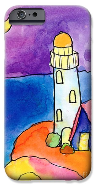 Recently Sold -  - Michelle iPhone Cases - Nighthouse iPhone Case by Michelle Malachowski Age Ten