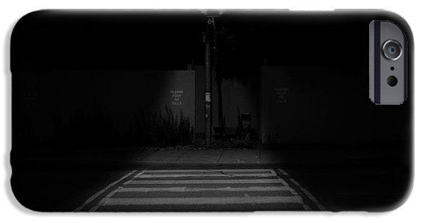 Eerie iPhone Cases - Nightwalk iPhone Case by Kreddible Trout