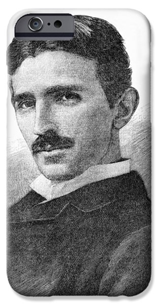 Electrical iPhone Cases - Nikola Tesla, Serb-us Physicist iPhone Case by